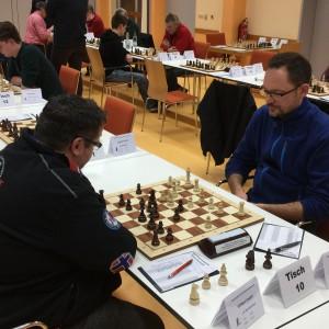 Gilbert Rebhan legte mit seinem Sieg in der Vorschlussrunde gegen den Marktleuthener André Wilfert den Grundstein für seine gute Platzierung