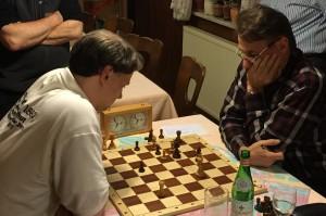 Kurt-Georg Breithut behielt in einem spannenden Endspiel gegen Edgar Schaller die Oberhand